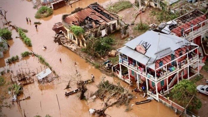 Une ville du Mozambique après le passage du cyclone Idai