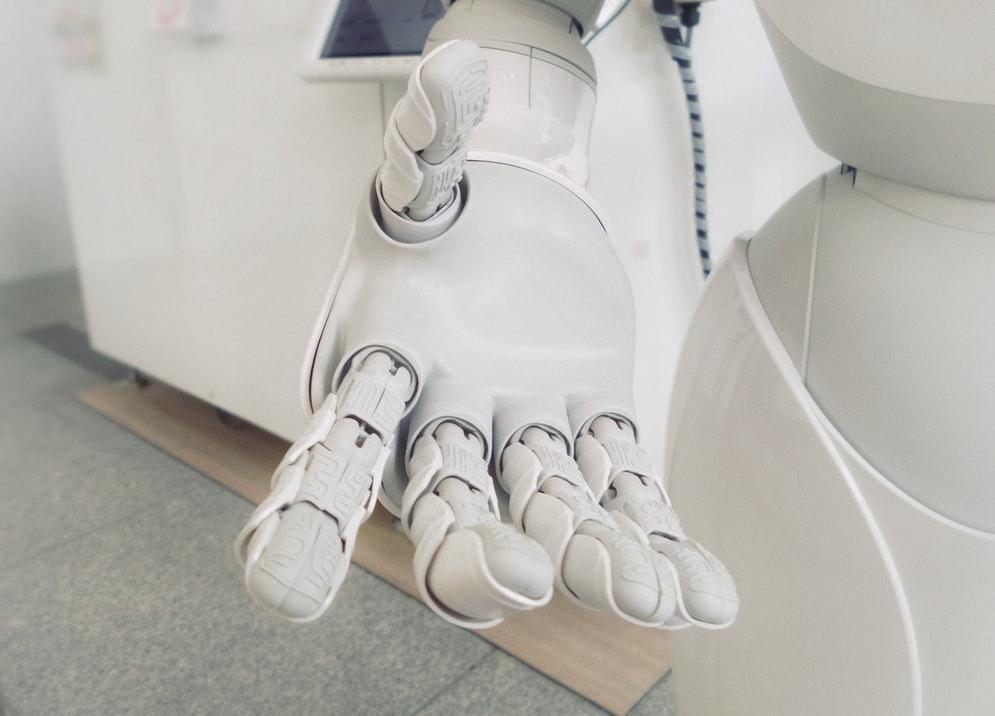La main d'un robot