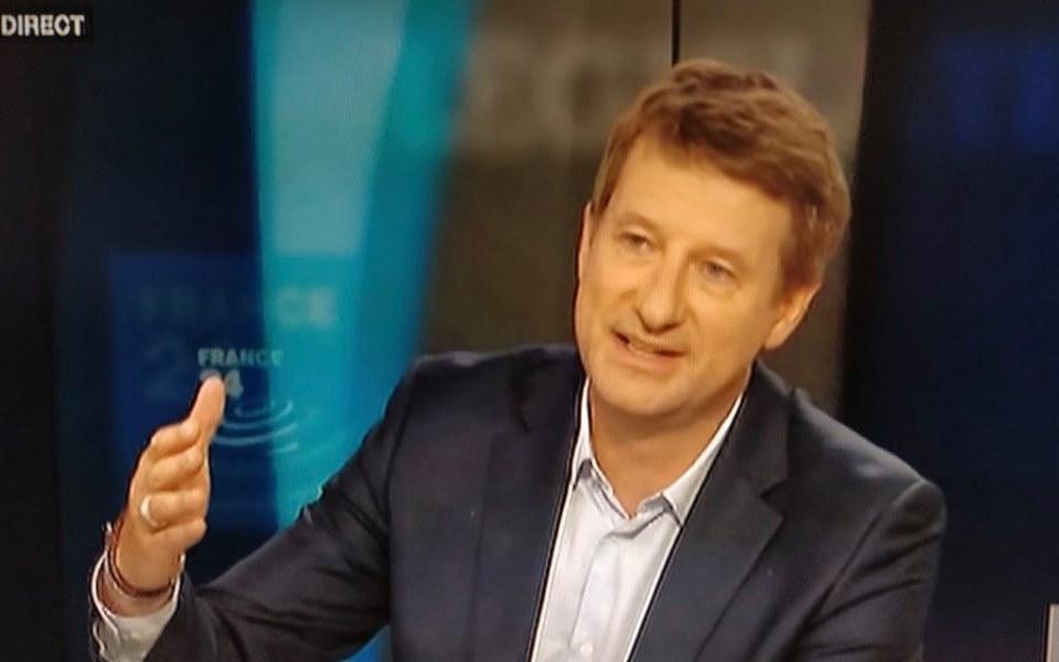 Yannick Jadot, tête de liste de l'EELV aux élections européennes 2019