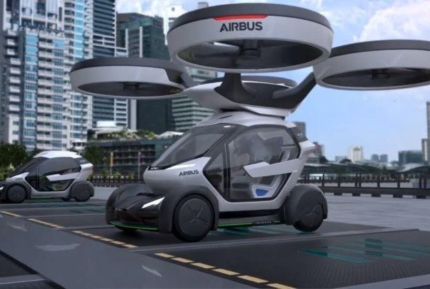 Un prototype du taxi volant d'Airbus sur maquette