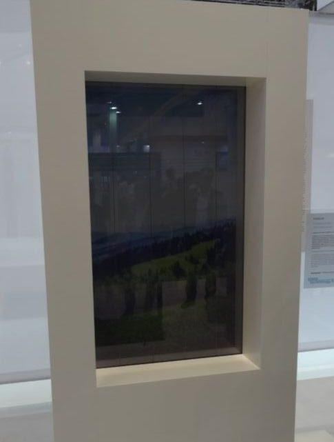 Une fenêtre FLUIDGLASS exposée à Luxembourg