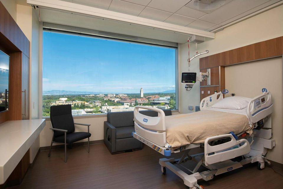 A l'interieur d'une chambre du Stanford Health Care