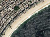 Une image satellitaire du bord de mer de San Francisco aux Etats Unis.