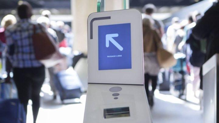 Gare de métro à Paris.