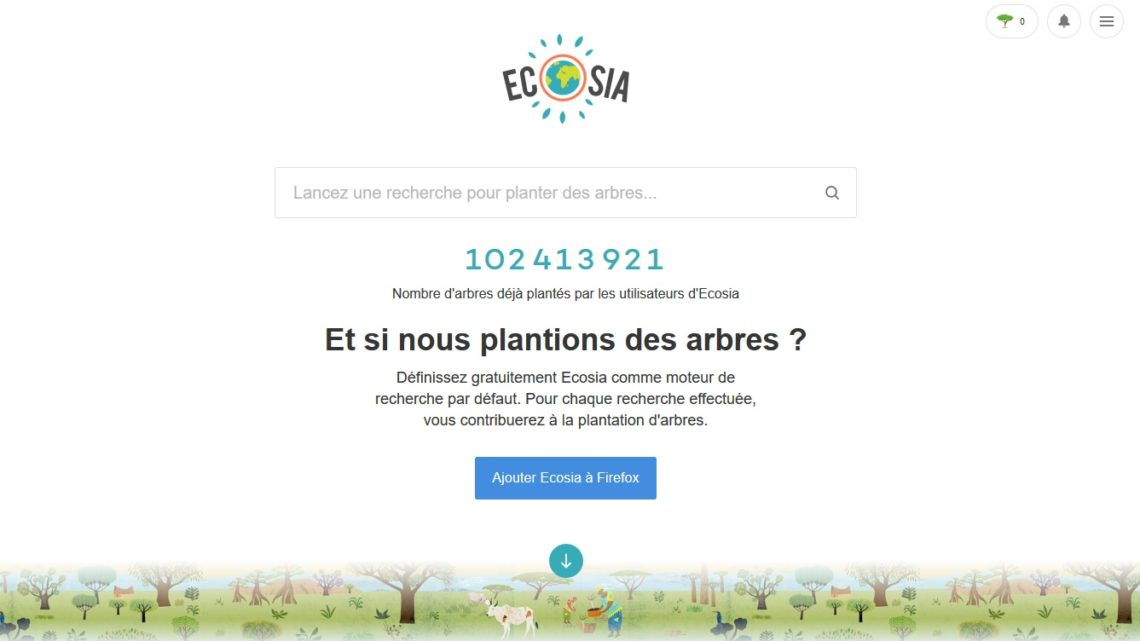 Ecosia encheres Google