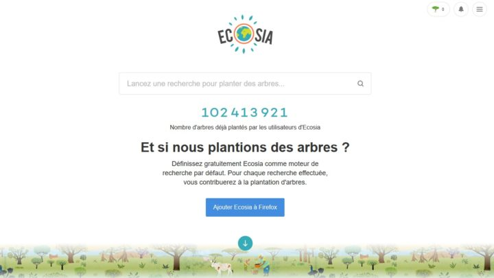 Ecosia encheres Google