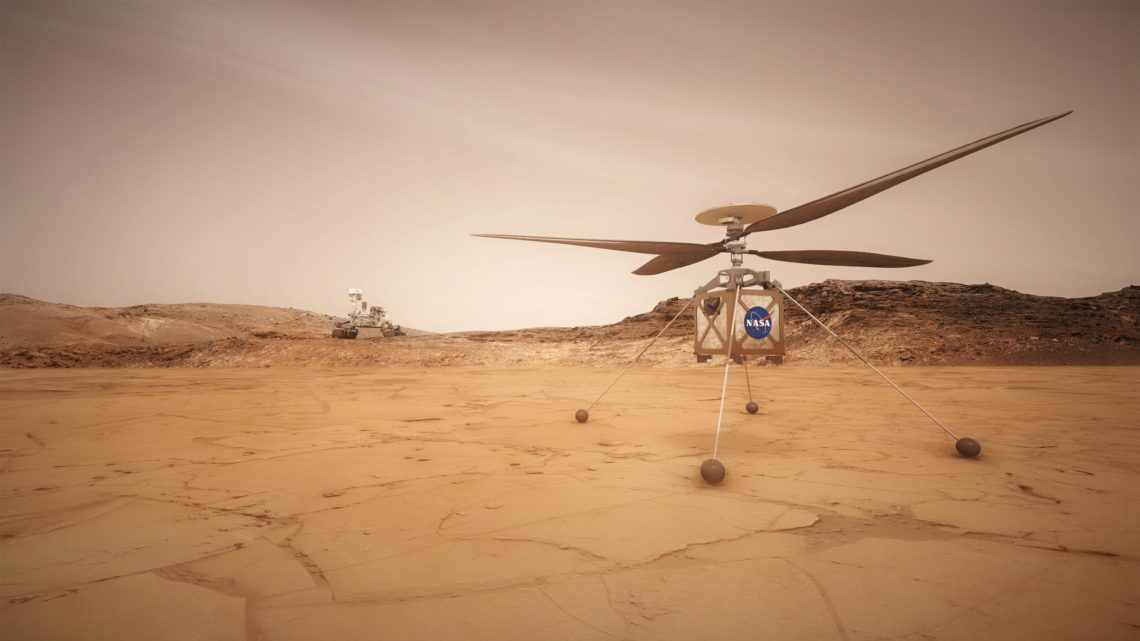 Ingenuity helicoptere mars
