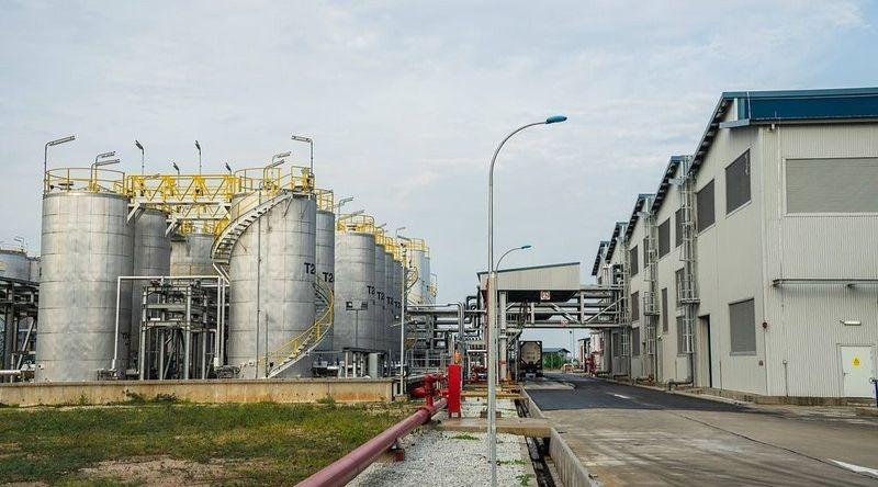 Une raffinerie de Total.