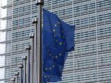 Drapeaux de l'UE au bâtiment Berlaymont de la Commission européenne à Bruxelles (Belgique).