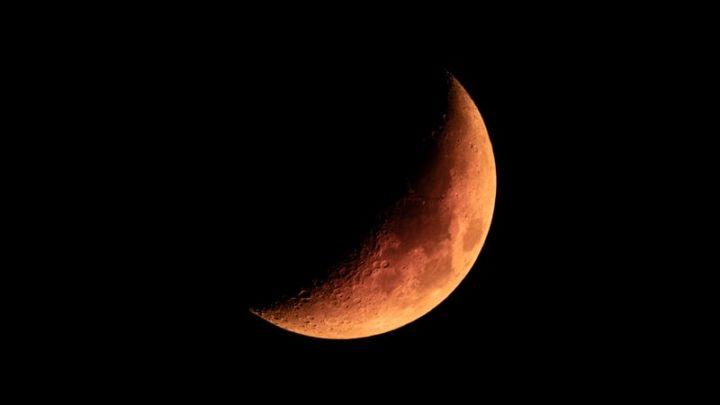 Une face éclairée de la Lune.