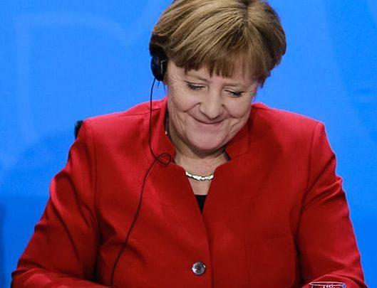 La chancelière Angela Merkel lors d'une réunion de la BCE en novembre 2020.